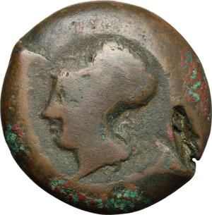obverse: Syracuse.  Dionysios I (405-367 BC).. AE Drachm, c. 395 BC