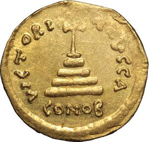 reverse: Tiberius II Constantine (578-582).. AV Solidus, Constantinople mint, 578-582