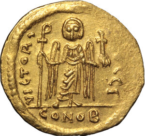 reverse: Phocas (602-610).. AV Solidus, Constantinople mint, 603-607