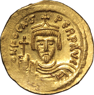 obverse: Phocas (602-610).. AV Solidus, Constantinople mint, 603-607