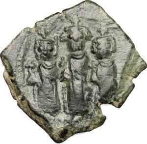 obverse: Heraclius (610-641).. AE Follis, Constantinople mint, 625-626