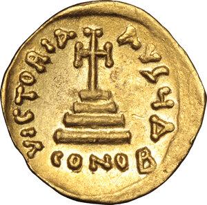 reverse: Heraclius, with Heraclius Constantine (610-641).. AV Solidus, Constantinople mint, 629-632