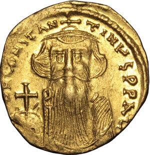 obverse: Constans II (641-668).. AV Solidus, Constantinople mint, 651-654