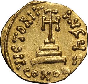 reverse: Constans II, with Constantine IV (641-668). . AV Solidus, Constantinople mint, 654-659