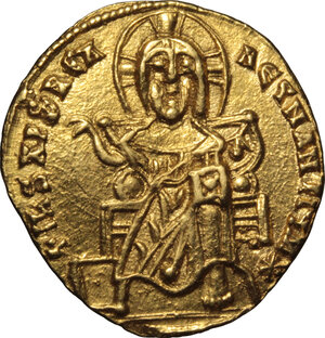 obverse: Basil I the Macedonian, with Constantine (868-879 AD).. AV Solidus, Constantinople mint, 868-879