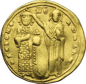 reverse: Roman III (1028-1034).. AV Histamenon nomisma, Constantinople mint, 1028-1034