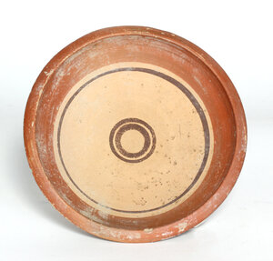 reverse: Daunian cup decorated with red and brown bands.  4th century BC.  14.5 cm diameter, 7 cm high