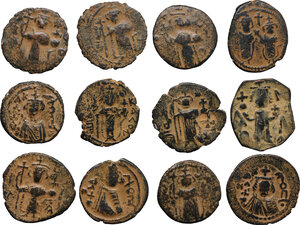 obverse: Lot of 12 Arab-Byzantine coins. Includes many varieties and rarities