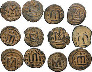 reverse: Lot of 12 Arab-Byzantine coins. Includes many varieties and rarities