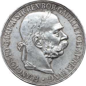 obverse: Austria.  Franz Joseph (1848-1916).. AR 5 Corona, Vienna mint, 1900