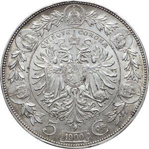 reverse: Austria.  Franz Joseph (1848-1916).. AR 5 Corona, Vienna mint, 1900