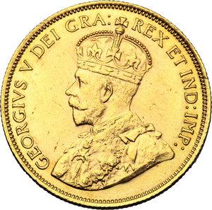 obverse: Canada.  George V (1910-1936). AV 10 Dollars 1912