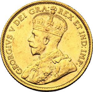obverse: Canada.  George V (1910-1936). AV 5 Dollars 1912