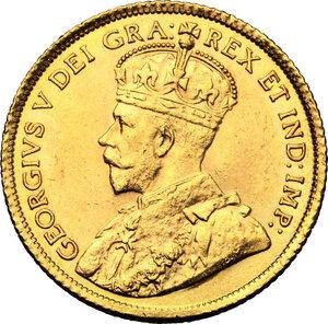 obverse: Canada.  George V (1910-1936). AV 5 Dollars 1913