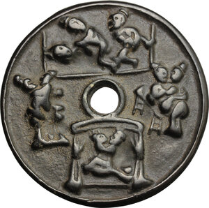 reverse: China. Charm with erotic scenes, 20th cent