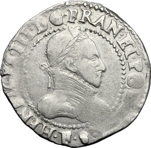 obverse: France.  Henry III (1574-1589).. AR 1/2 Franc 1587
