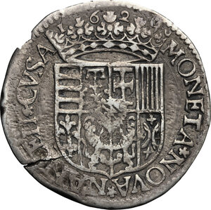 reverse: France.  Charles IV of Lorraine (1625-1675).. AR Testone, Nancy mint, 1629