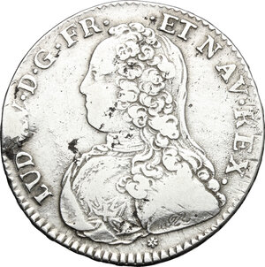 obverse: France.  Louis XV (1715-1774).. AR 1/2 Ecu 1736 C