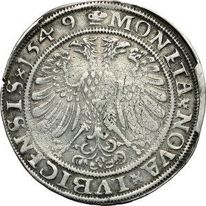 reverse: Germany. AR Taler, Lübeck mint, 1549