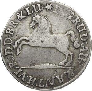 obverse: Germany.  Rudolf August (1666-1704). AR 24 Mariengroschen, Brunswich-Wolfenbuttel,  1691 HCH