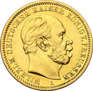 obverse: Germany.  Wilhelm I (1861-1888).. 20 Marks, Prussia, 1872 A