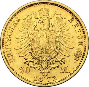 reverse: Germany.  Wilhelm I (1861-1888).. 20 Marks, Prussia, 1872 A