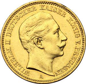 obverse: Germany.  Wilhelm II (1888-1918). 20 Marks, Prussia, 1896 A