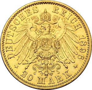 reverse: Germany.  Wilhelm II (1888-1918). 20 Marks, Prussia, 1896 A