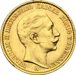 obverse: Germany.  Wilhelm II (1888-1918). 20 Marks, Prussia, 1910 A