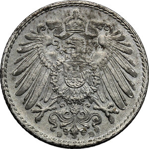 reverse: Germany.  Wilhelm II (1888-1918).. FE 5 Pfennig, Munich mint, 1915D