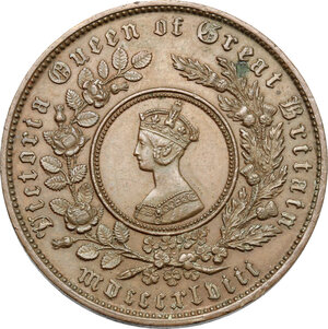 obverse: Great Britain.  Victoria (1837-1901).. AE Token Coinage, Model Crown, 1848