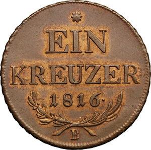 obverse: Hungary.  Franz II/I (1792-1805-1835).. AE Kreuzer, Kremnitz mint, 1816B