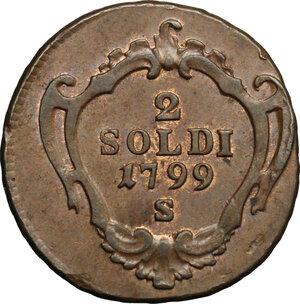 obverse: Hungary.  Franz II/I (1792-1805-1835).. AE 2 Soldi, Schmöllnitz mint, 1789 S