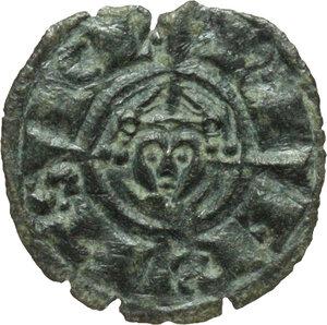 obverse: Italy..  Federico II (1197-1250). MI Denar, Brinidisi mint, 1236