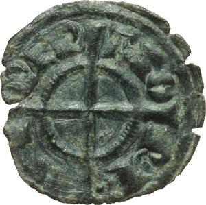 reverse: Italy..  Federico II (1197-1250). MI Denar, Brinidisi mint, 1236