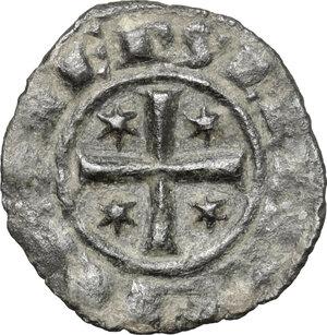 obverse: Italy..  Federico II (1197-1250). MI Denaro, Brindisi mint,  1249