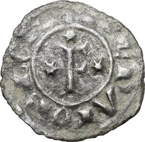 reverse: Italy..  Federico II (1197-1250). MI Denaro, Brindisi mint,  1249