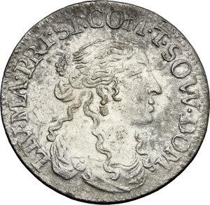 obverse: Italy..  Livia Centurioni Oltremarini (1616-1688), moglie di Filippo Spinola. AR Luigino 1666, Fosdinovo mint