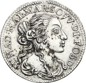obverse: Italy..  Maria Maddalena Centurioni (1663-1669), moglie di Pasquale Malaspina. AR Luigino 1667, Fosdinovo mint