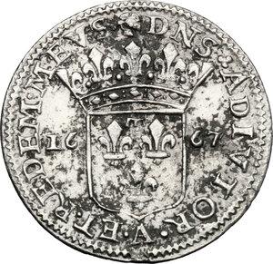 reverse: Italy..  Maria Maddalena Centurioni (1663-1669), moglie di Pasquale Malaspina. AR Luigino 1667, Fosdinovo mint