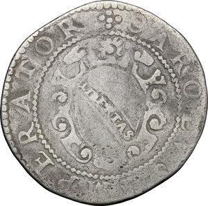 obverse: Italy..  Republic (1369-1799). AR San Martino da 15 bolognini, Lucca mint, 1607