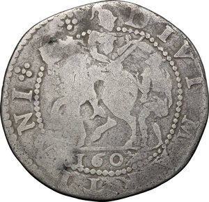 reverse: Italy..  Republic (1369-1799). AR San Martino da 15 bolognini, Lucca mint, 1607