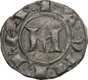 obverse: Italy. .  Manfredi (1258-1266). Denaro, Messina mint