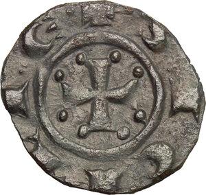 reverse: Italy. .  Manfredi (1258-1266). Denaro, Messina mint