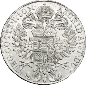 reverse: Italy..  Maria Theresia (1740-1780).. AR Taler 1780, Milan mint, 1832-1839
