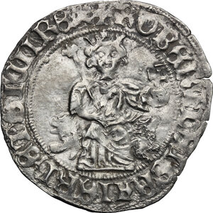 obverse: Italy. .  Robert of Anjou (1309-1343).. AR Gigliato, Kingdom of Naples and Sicily, Naples mint, 1309-1343