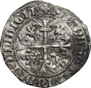 reverse: Italy. .  Robert of Anjou (1309-1343).. AR Gigliato, Kingdom of Naples and Sicily, Naples mint, 1309-1343