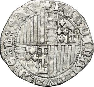 reverse: Italy..  Ferdinand I (1458-1462).. AR Carlino, Naples mint
