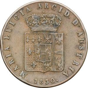 obverse: Italy..  Maria Luigia (1815-1847).. AE 5 Centesimi, Parma mint, 1830