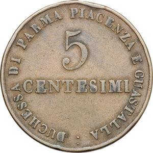 reverse: Italy..  Maria Luigia (1815-1847).. AE 5 Centesimi, Parma mint, 1830